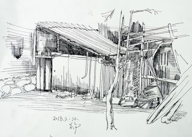 建筑速写钢笔画 临摹分享展示