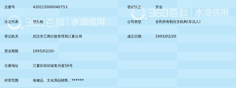武汉市江夏区第一人民医院劳动服务公司保健品